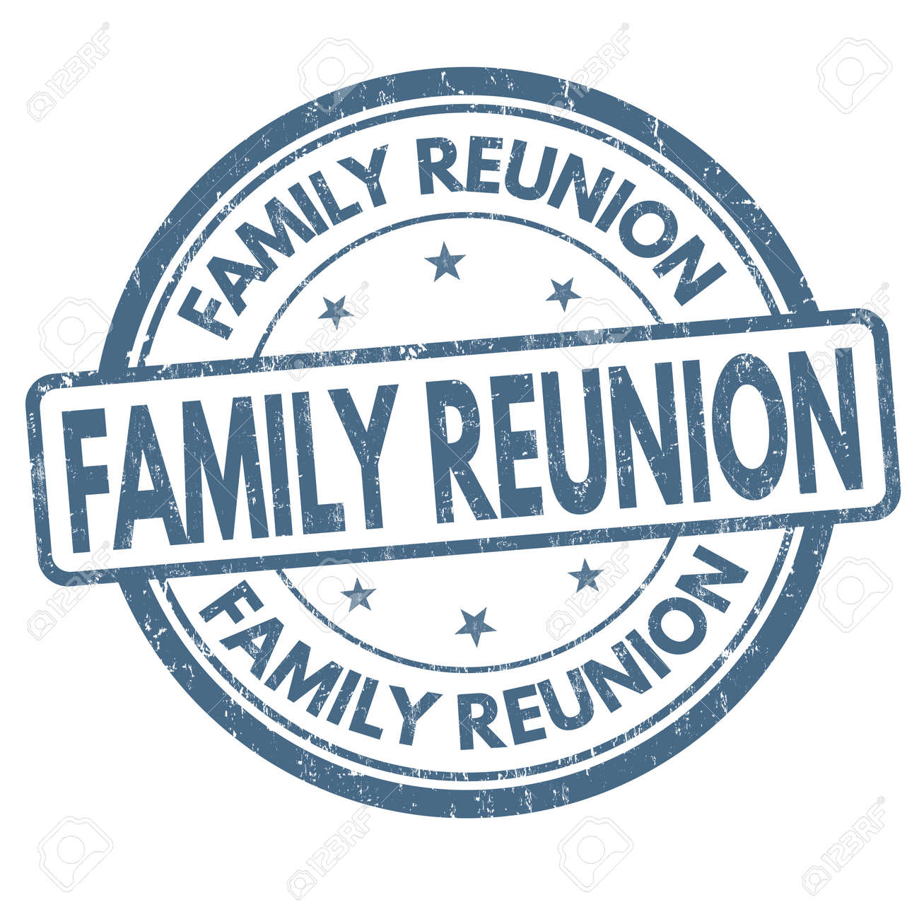 family reunion sign or stamp on white background vector