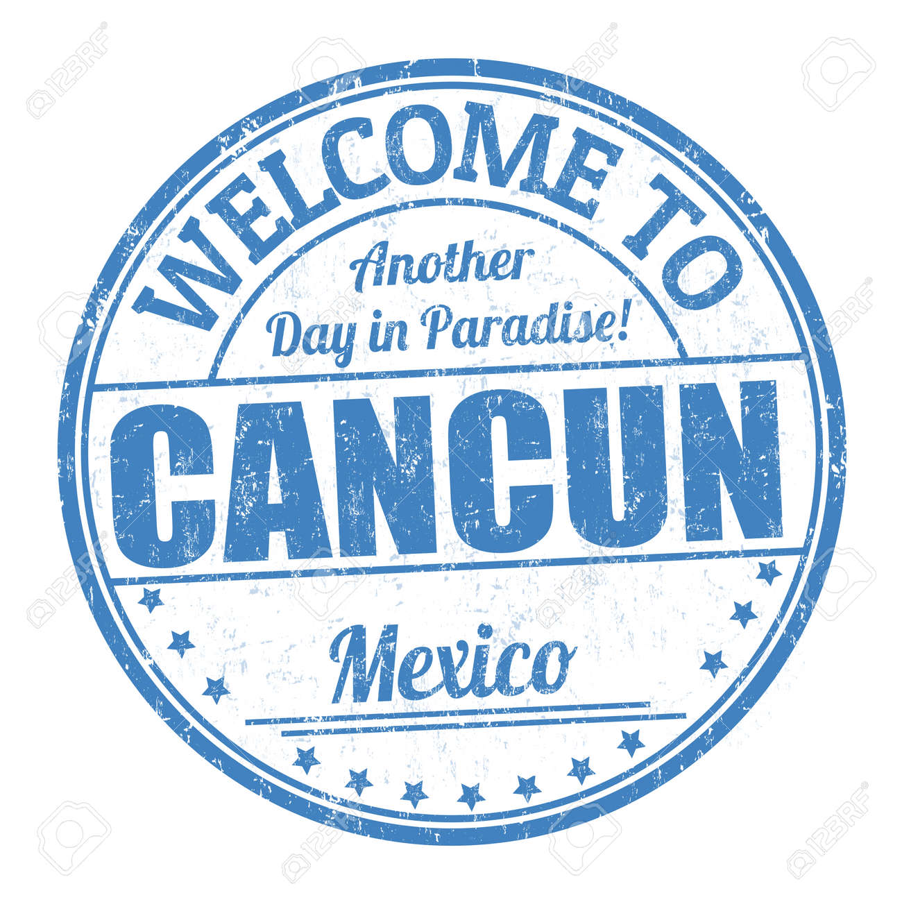Welcome To Cancun Sign Or Stamp On White Background Vector