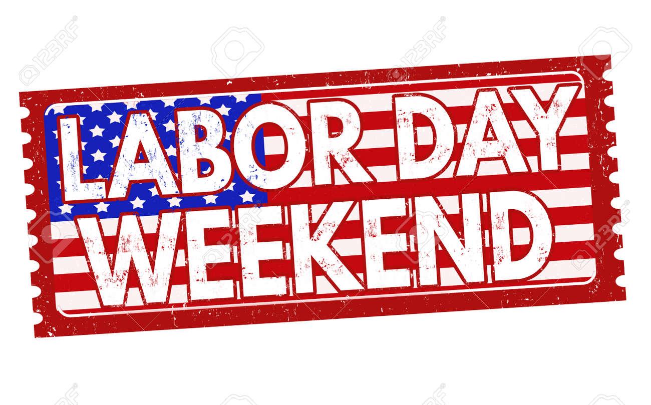 taille 40 04bcc 2cde8 Fête du travail week-end grunge rubber stamp sur fond blanc, illustration  vectorielle