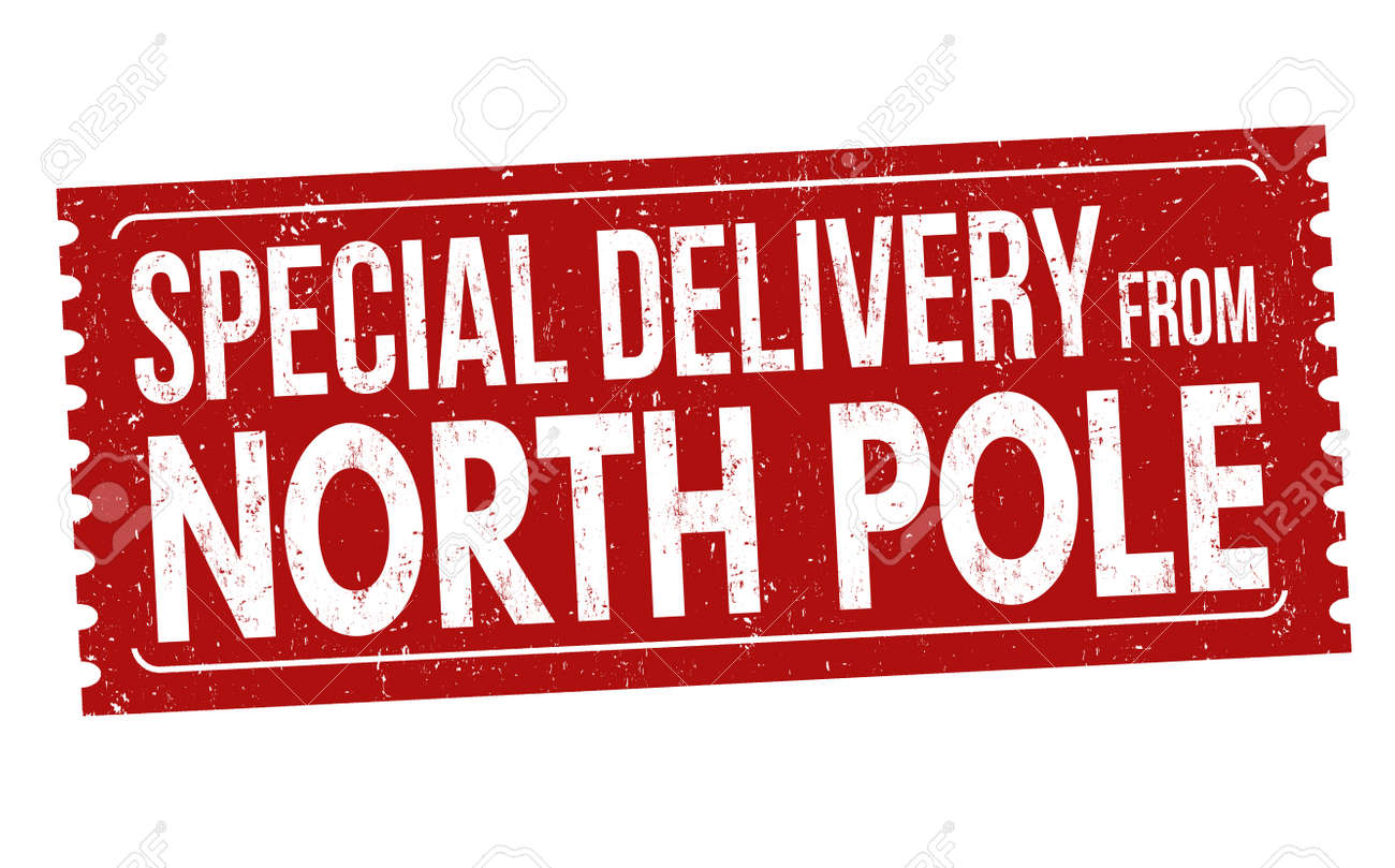 Special delivery from North Pole grunge rubber stamp on white background, vector illustration - 88183898