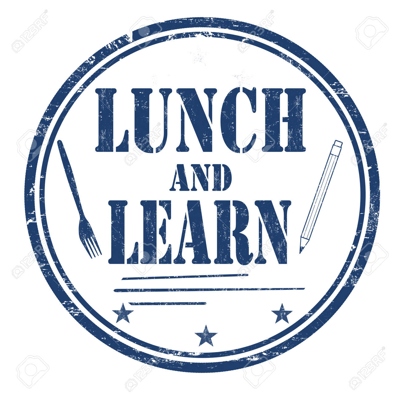 Lunch and learn grunge rubber stamp on white background, vector illustration - 93506013