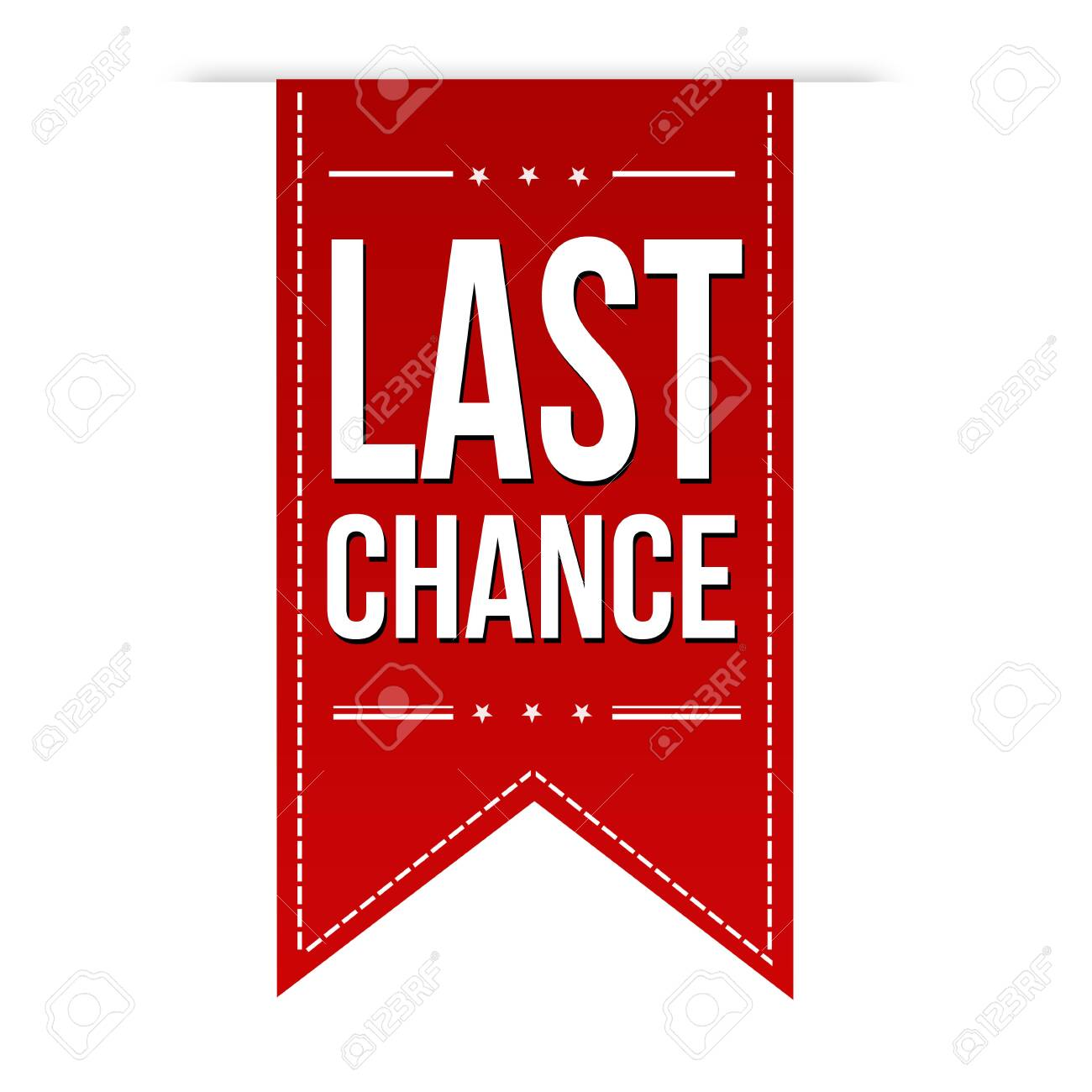 Last chance banner design on white background, vector illustration - 155346952