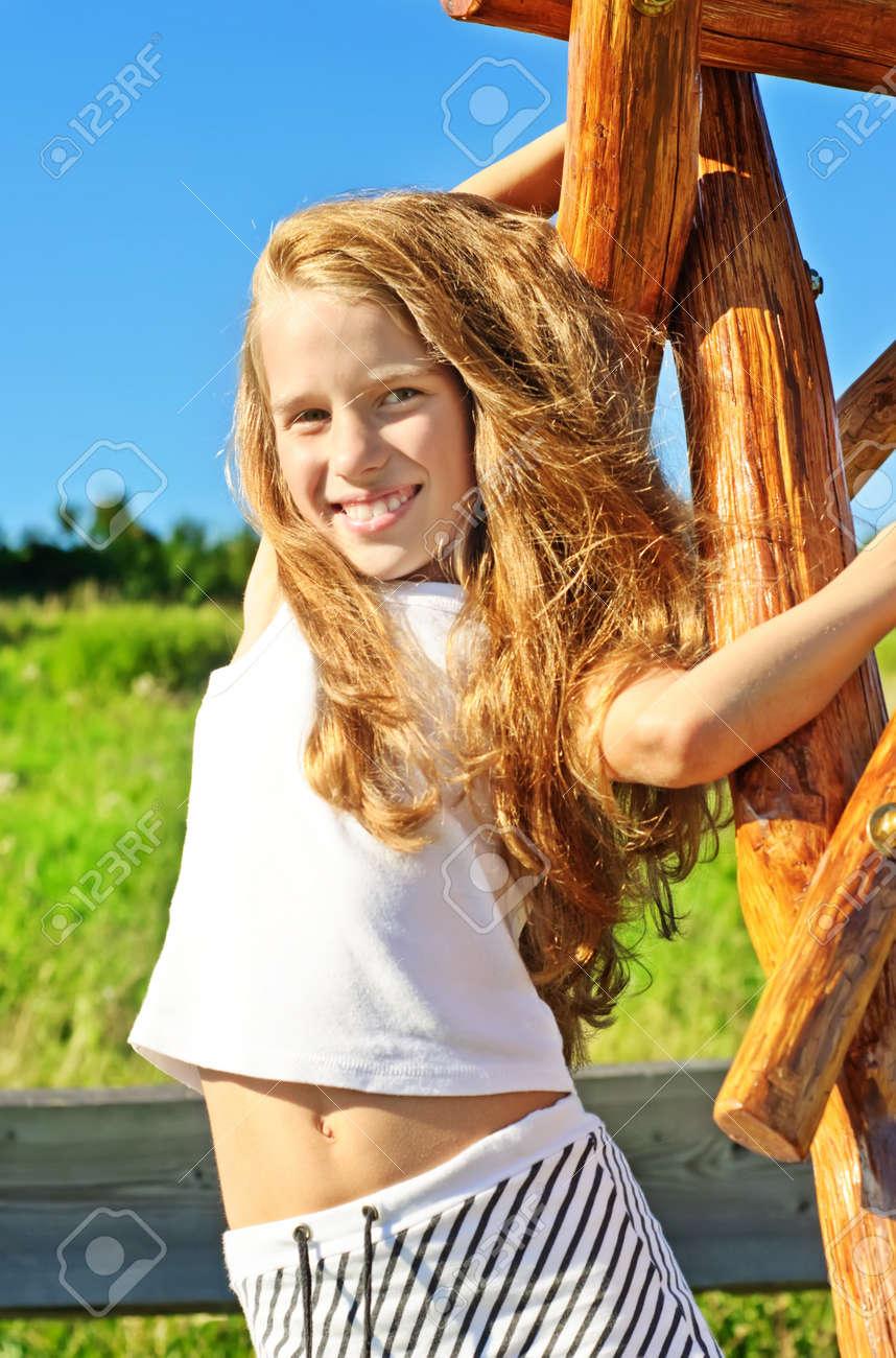 Eight years old girl Stock Photo - 8085141