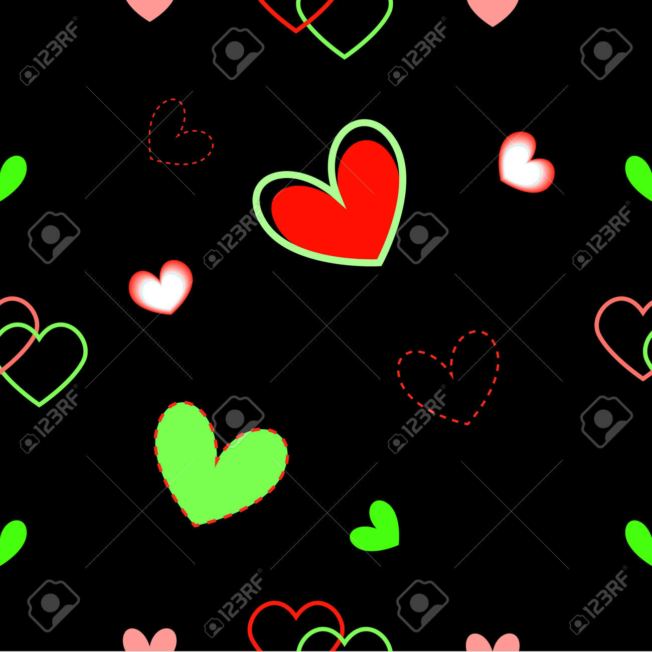 Seamless ornament with hearts Stock Vector - 8627437