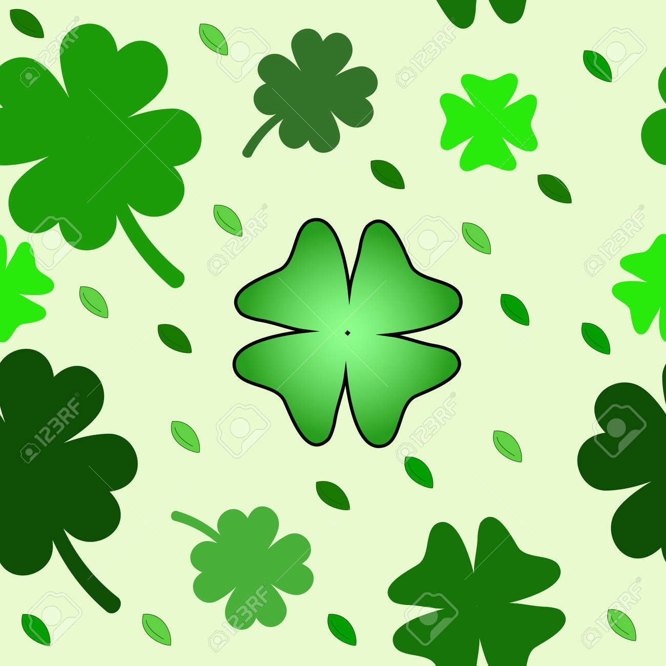 seamless pattern with clover leaves Stock Photo - 8952817