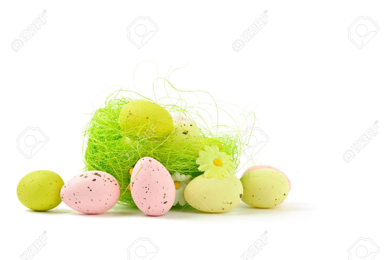 decorative easter nest with eggs Stock Photo - 9229934