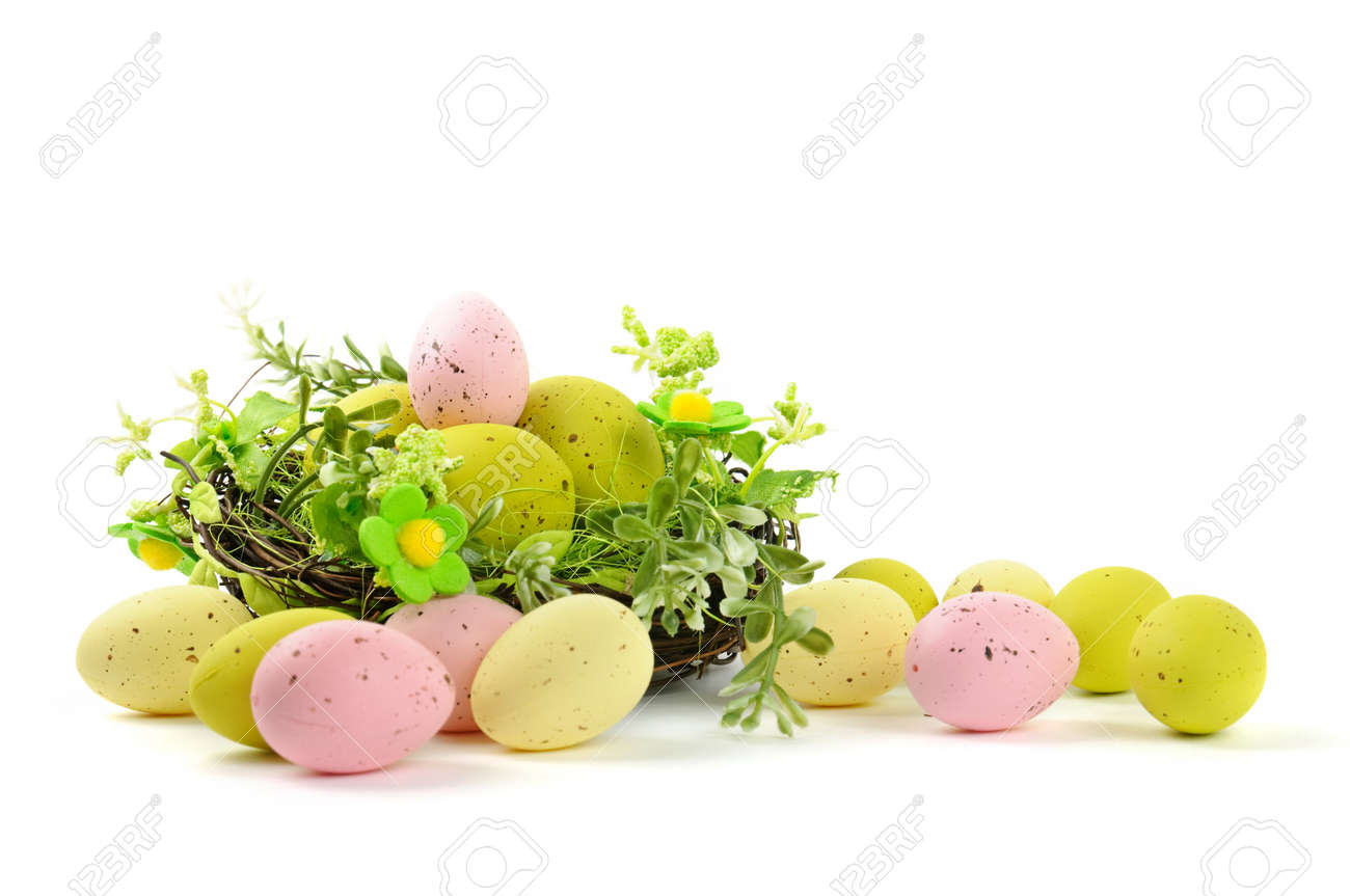 decorative easter nest with eggs Stock Photo - 9280661