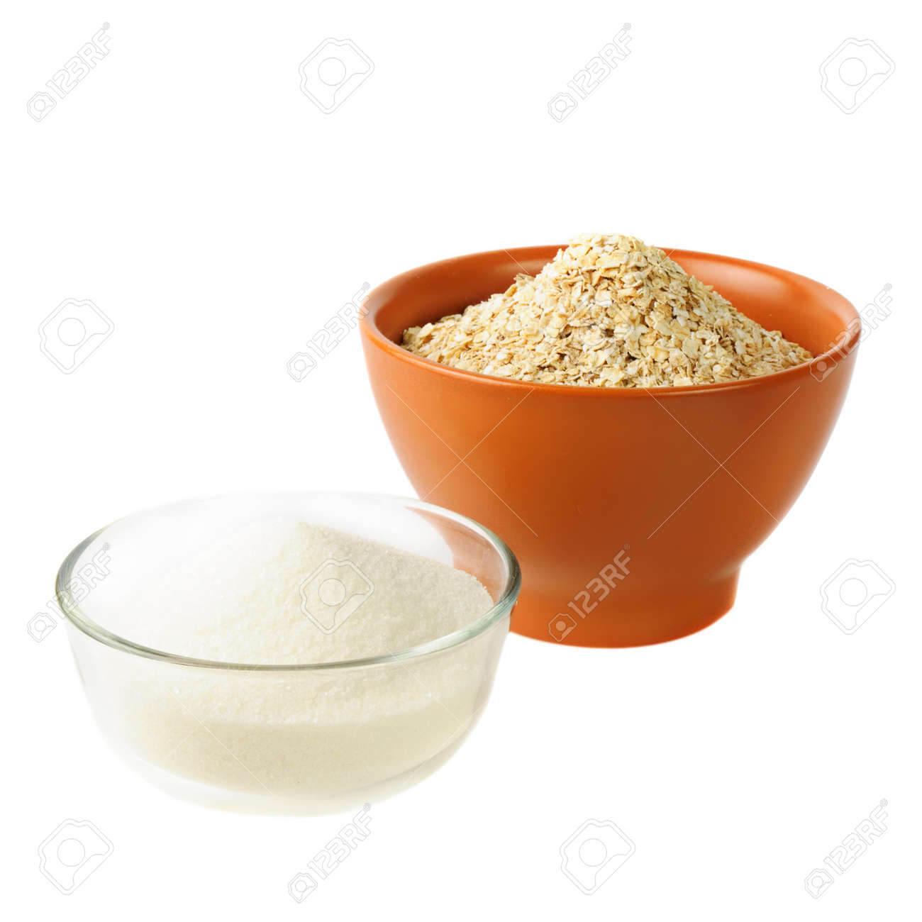oat and sugar: carbohydrate foods Stock Photo - 10438524