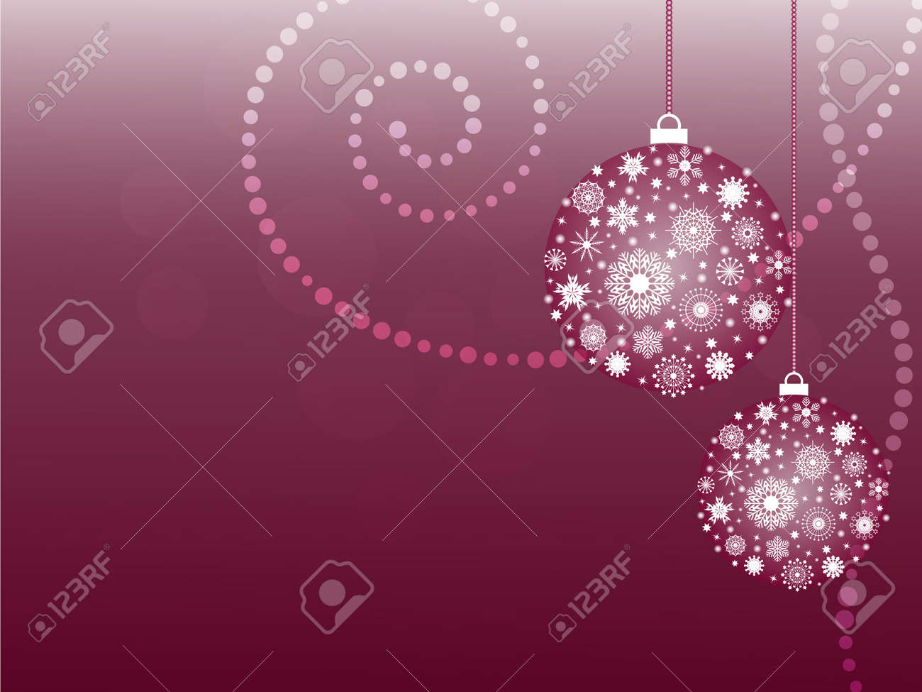 Christmas card with snowflake balls Stock Vector - 11413458