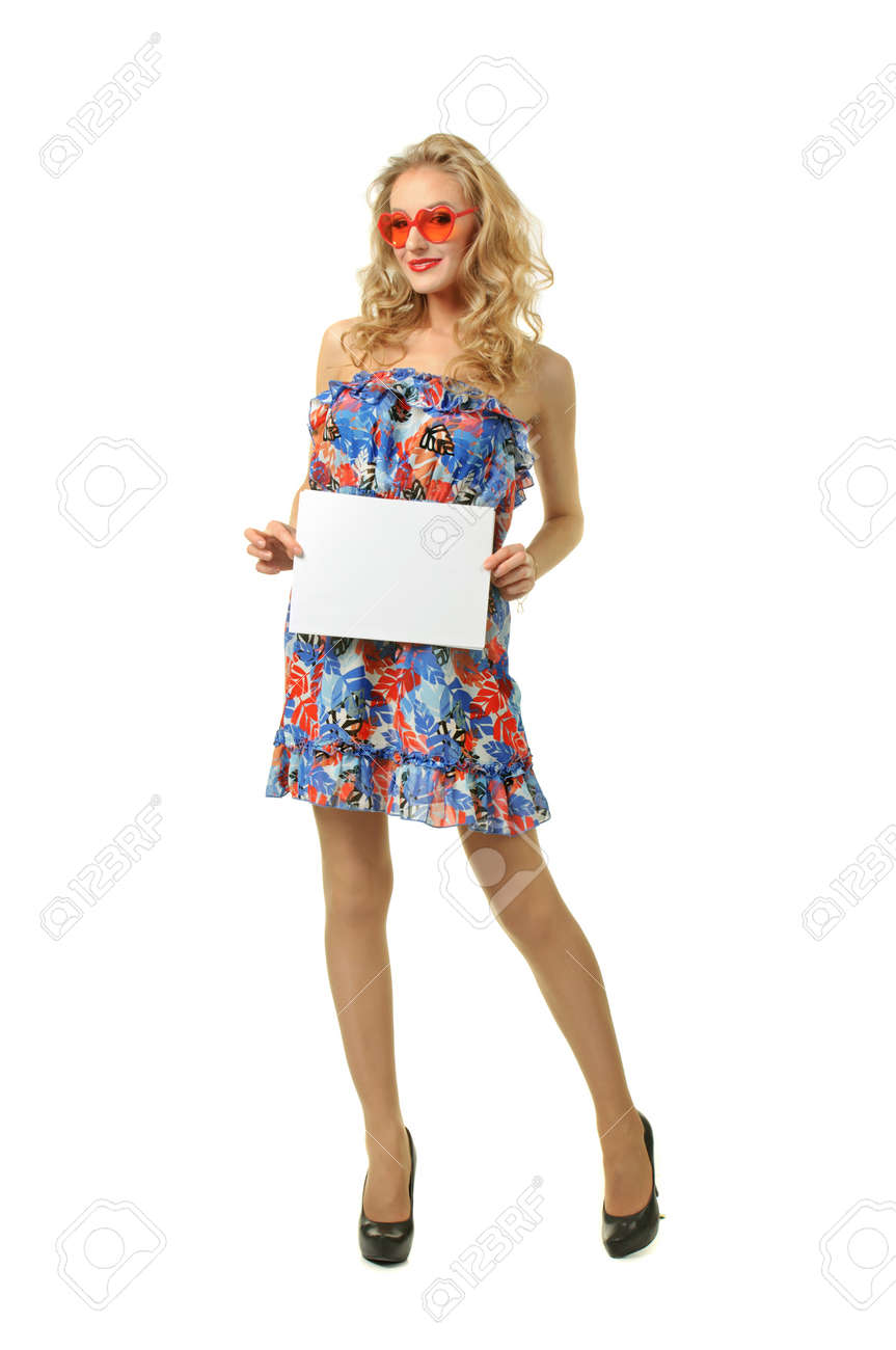 Girl with sheet of paper Stock Photo - 16037182