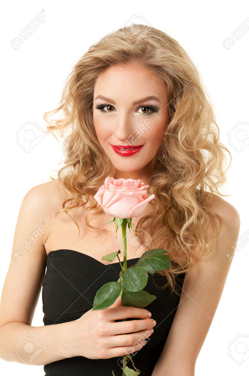 portrait of a girl with rose Stock Photo - 17597844