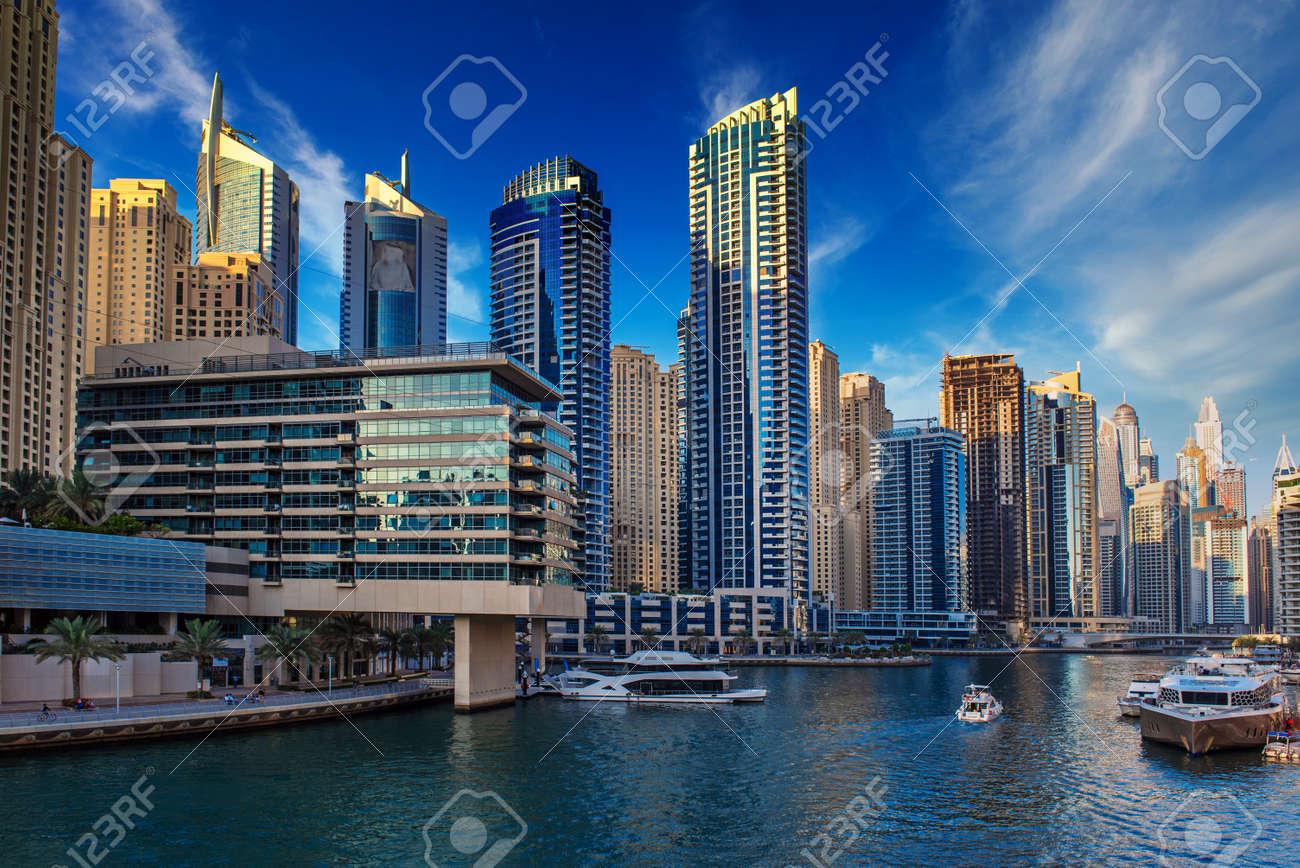Dubai Marina at sunset - 136474547