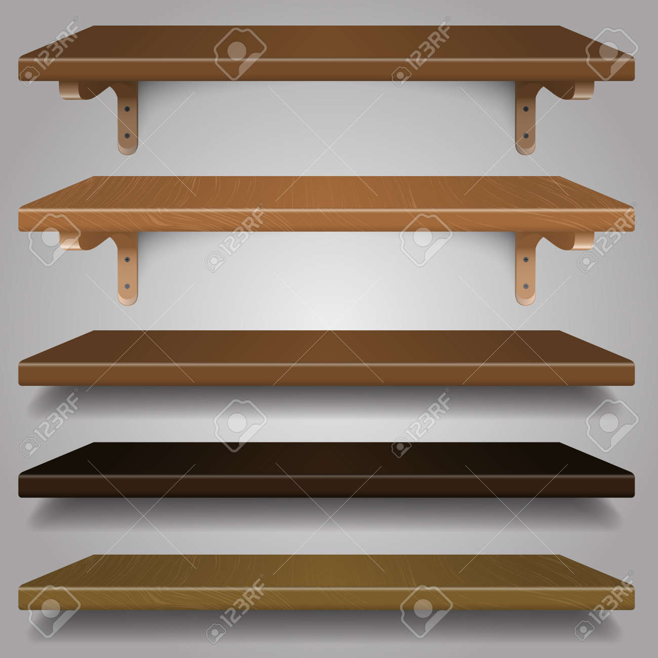 Wood Shelves Different Types And Colors Royalty Free Cliparts Vectors And Stock Illustration Image 23646920