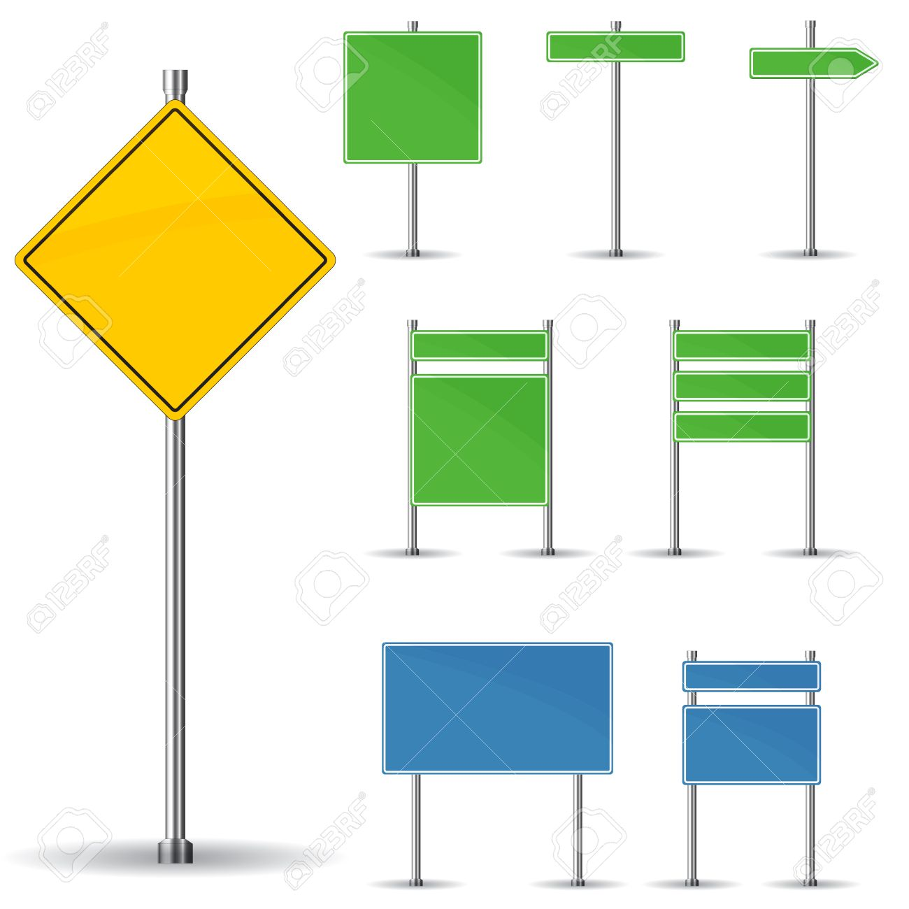Blank Sign Board Clipart Blank Road Signs Board And