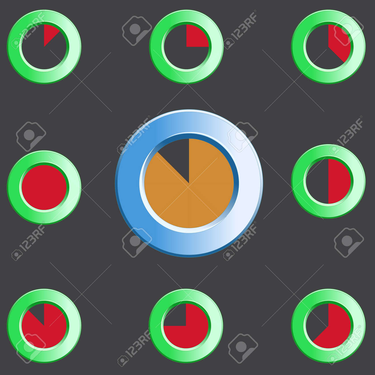 Round preloader animation frame, buffer shape, circular progress