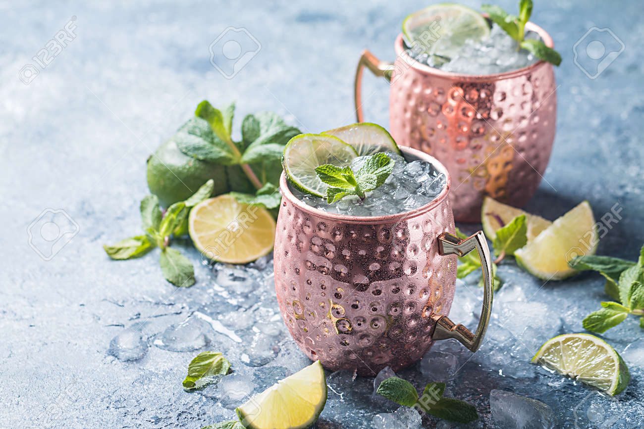 Moscow mule cocktail - 78629836