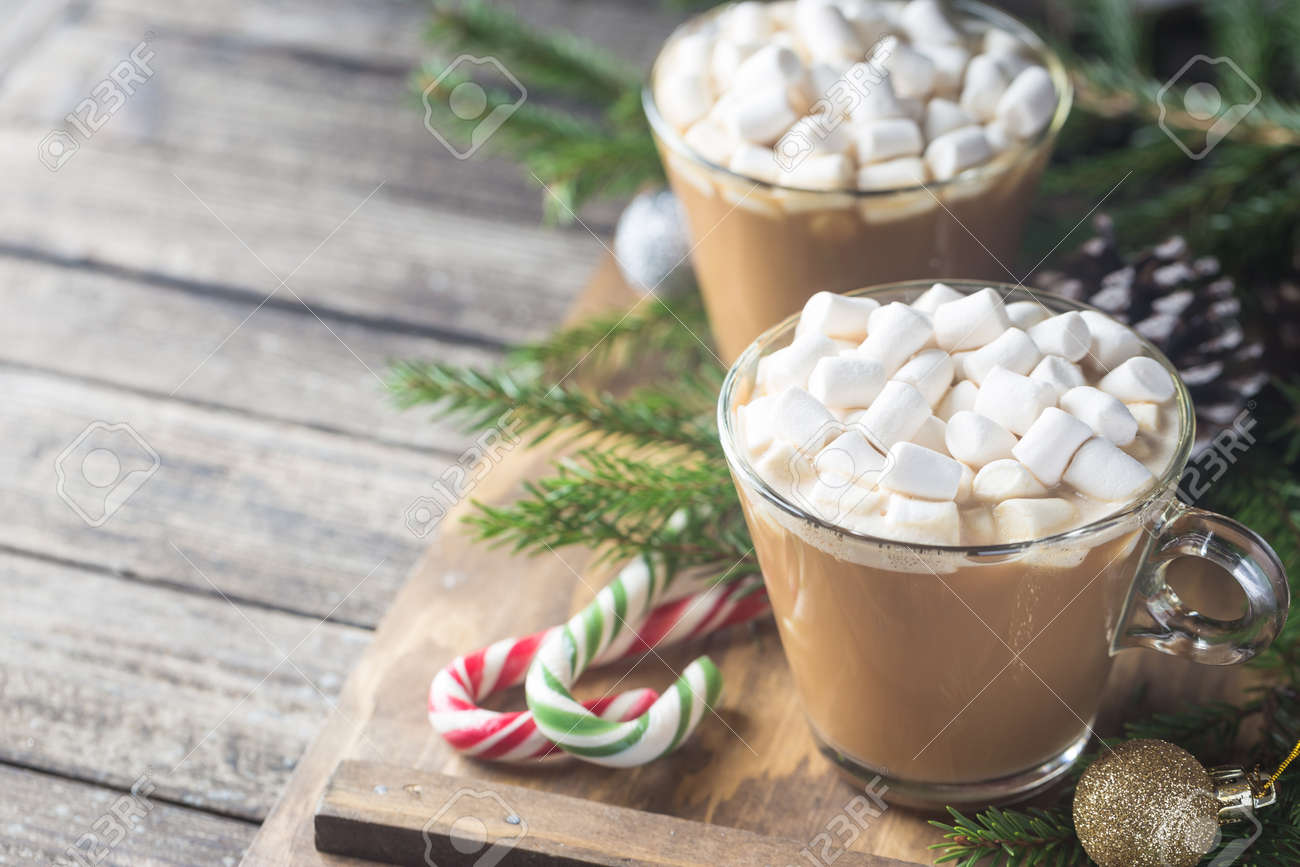 Cocoa with marshmallow - 110759729