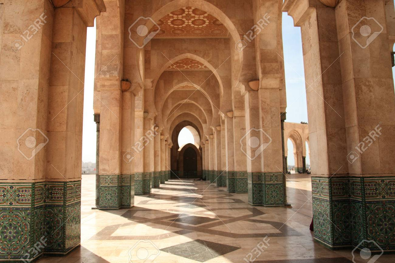 the mosque Hassan 2 Casablanca Morocco beautiful arches islamic