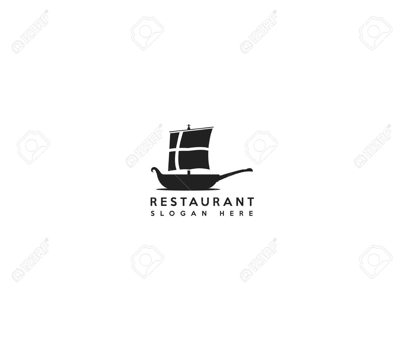 Danish Flag And A Pan As A Danish Traditional Boat For Danish Royalty Free Cliparts Vectors And Stock Illustration Image 125121586