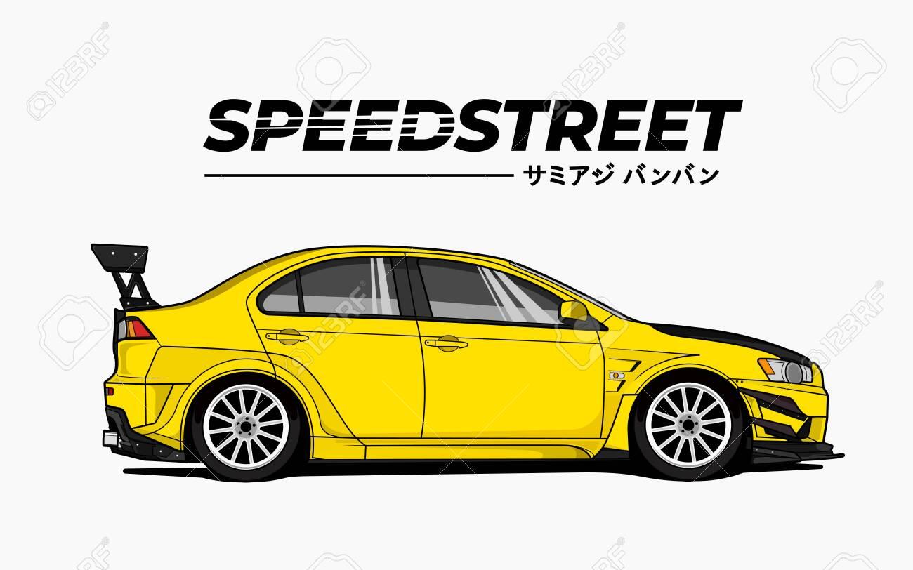Racing Car Japanese Street Racing Car Hill Climb Racing Jdm Royalty Free Cliparts Vectors And Stock Illustration Image 137172477