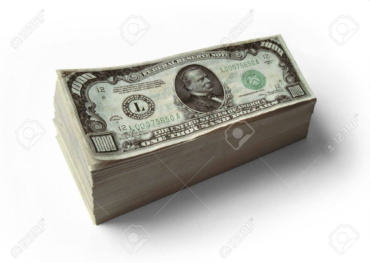 stack of real 1000 dollar bills stock photo picture and royalty