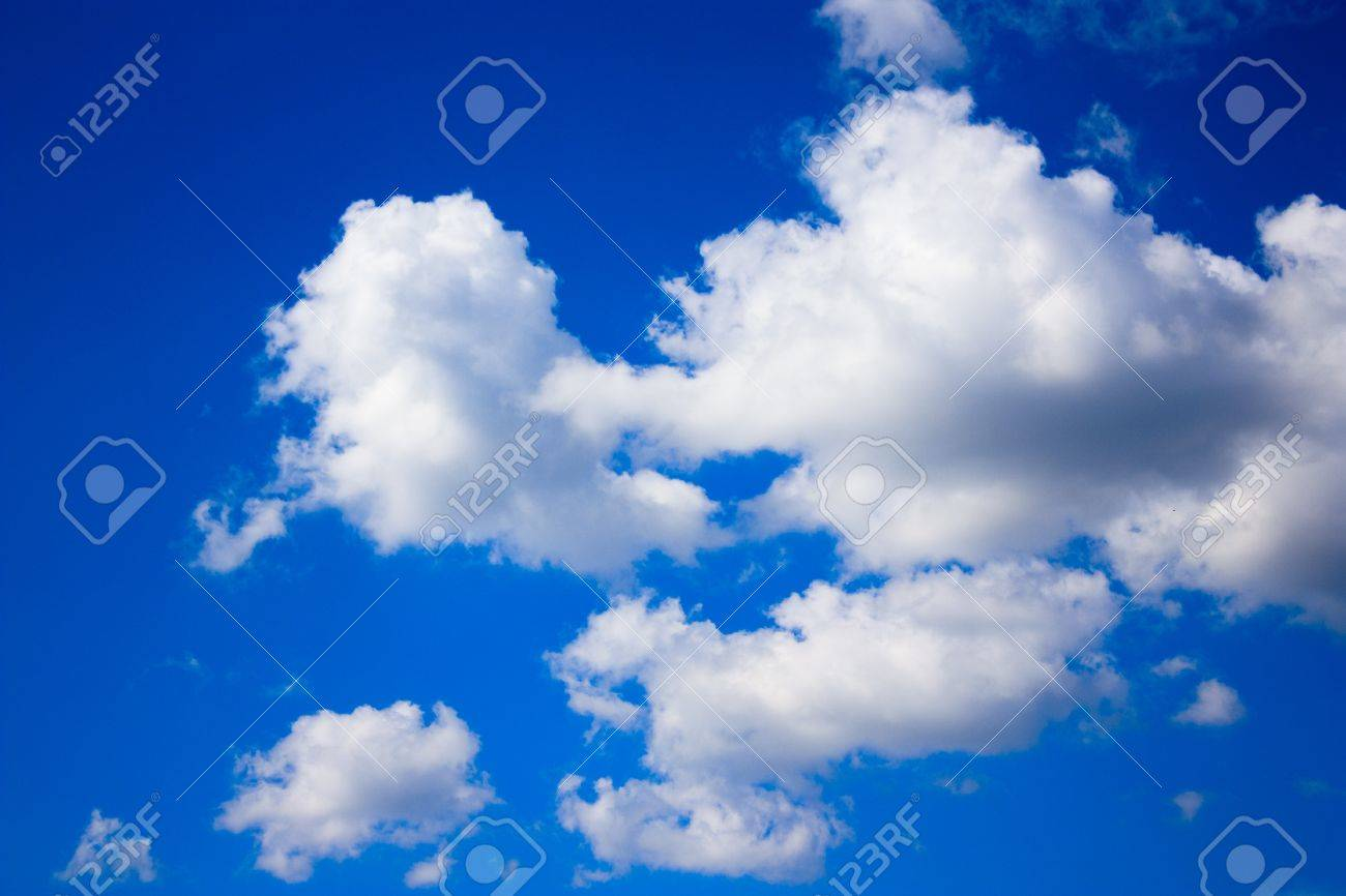View of sunny sky background whith white clouds Stock Photo - 11130673
