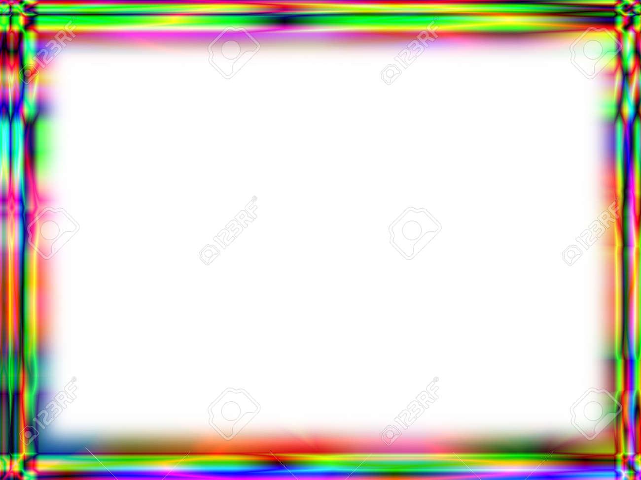 Einzigartige Regenbogenverlauf Rahmen Mit Weißem Leeren Platz Für ...