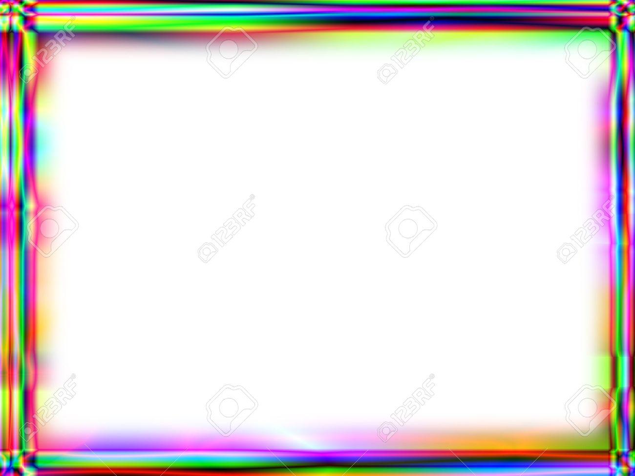 Einzigartige Regenbogenverlauf Rahmen Mit Weißen Leeren Raum Für ...