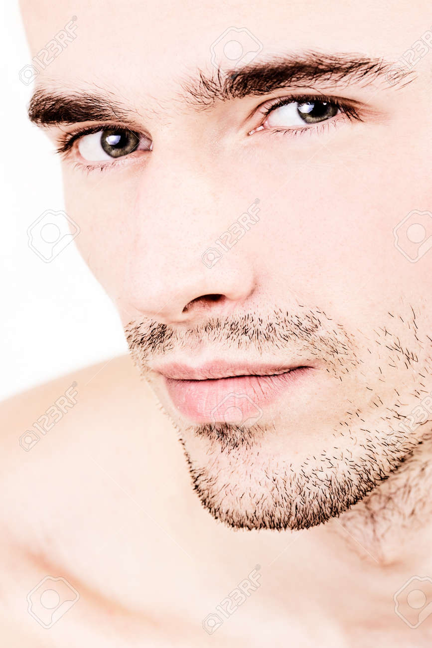 closeup portraiture of young male model - 11412062