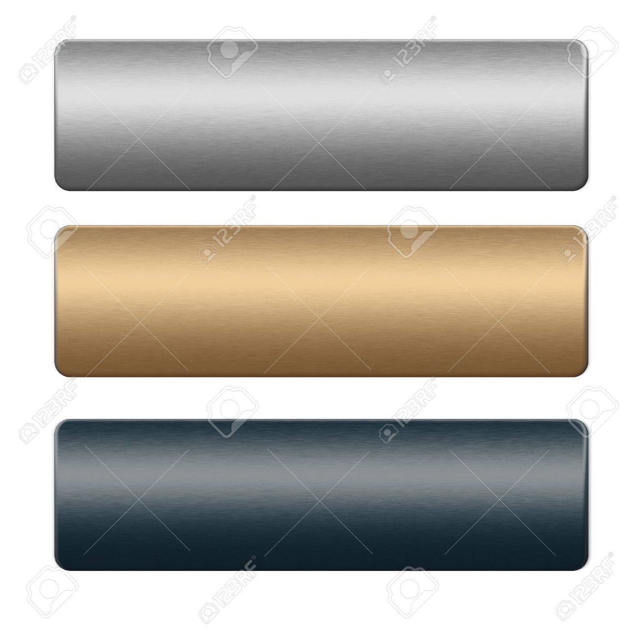 Chrome boards. silver, gold and blue texture, background to insert text or design Stock Photo - 11883017