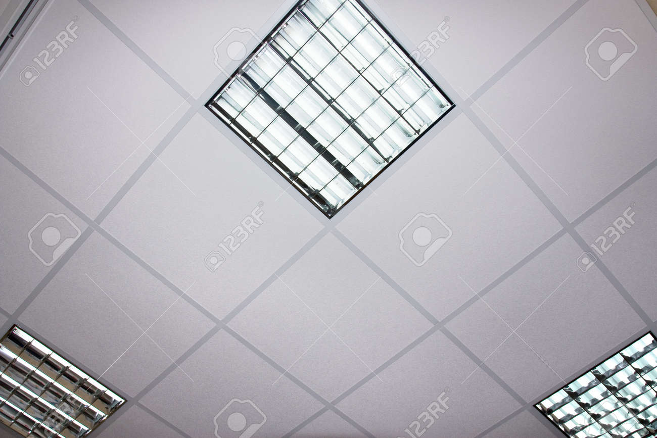 Ceiling office acoustic ceiling tiles ecophon master matrix line ceiling office fluorescent lamp on the modern ceiling stock photo 12658189 office dailygadgetfo Images