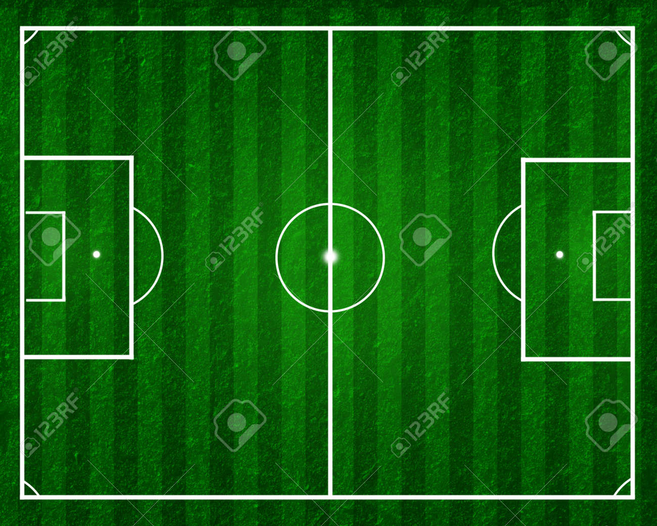 football field, soccer field with strips on green grass Stock Photo - 14003186