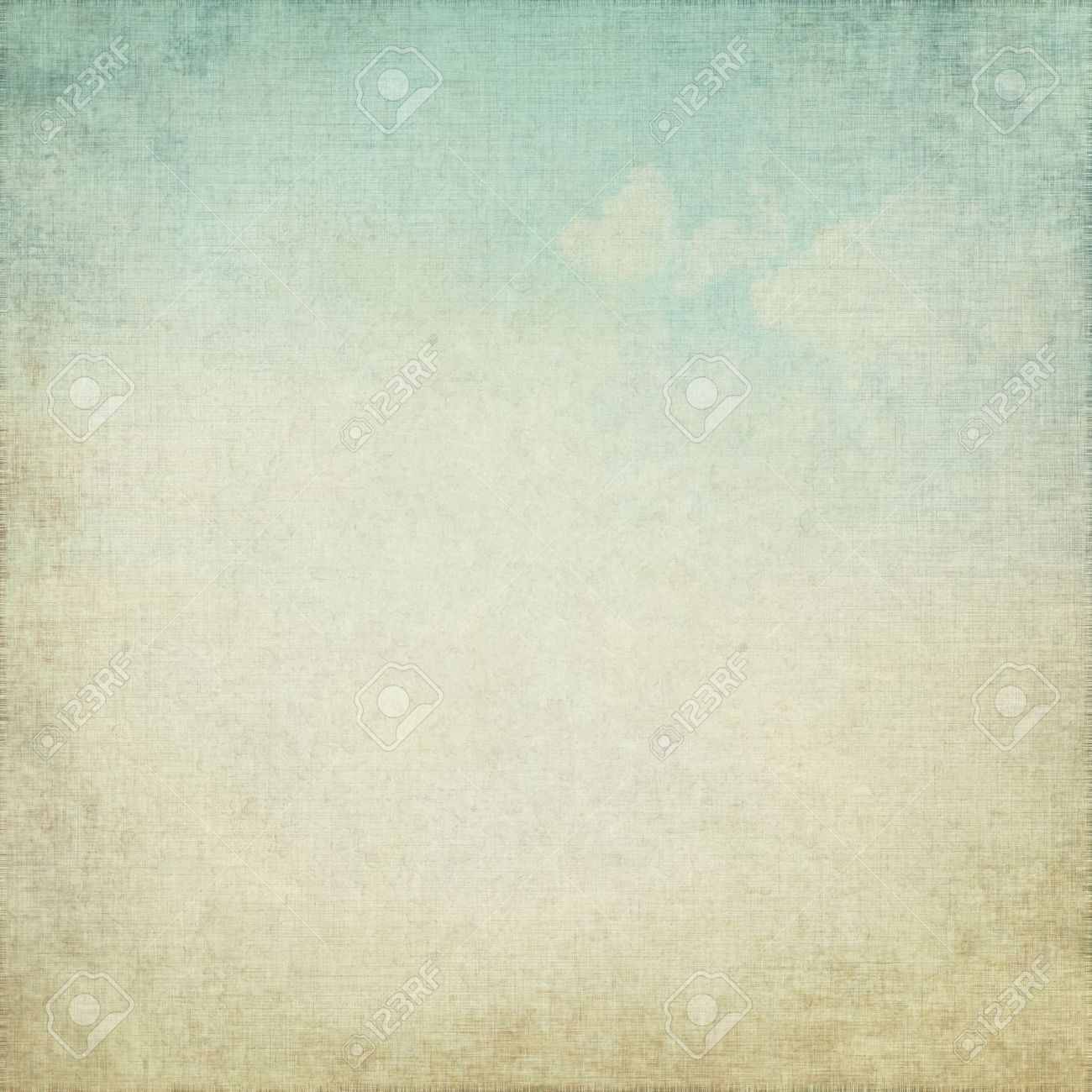 old parchment grunge background with delicate abstract canvas texture and blue sky view Stock Photo - 15329223