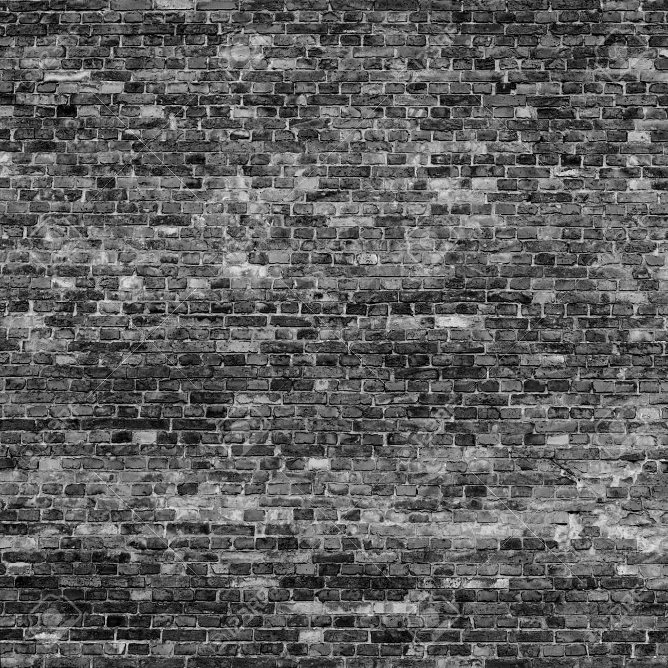 old brick wall texture background in black and white colors