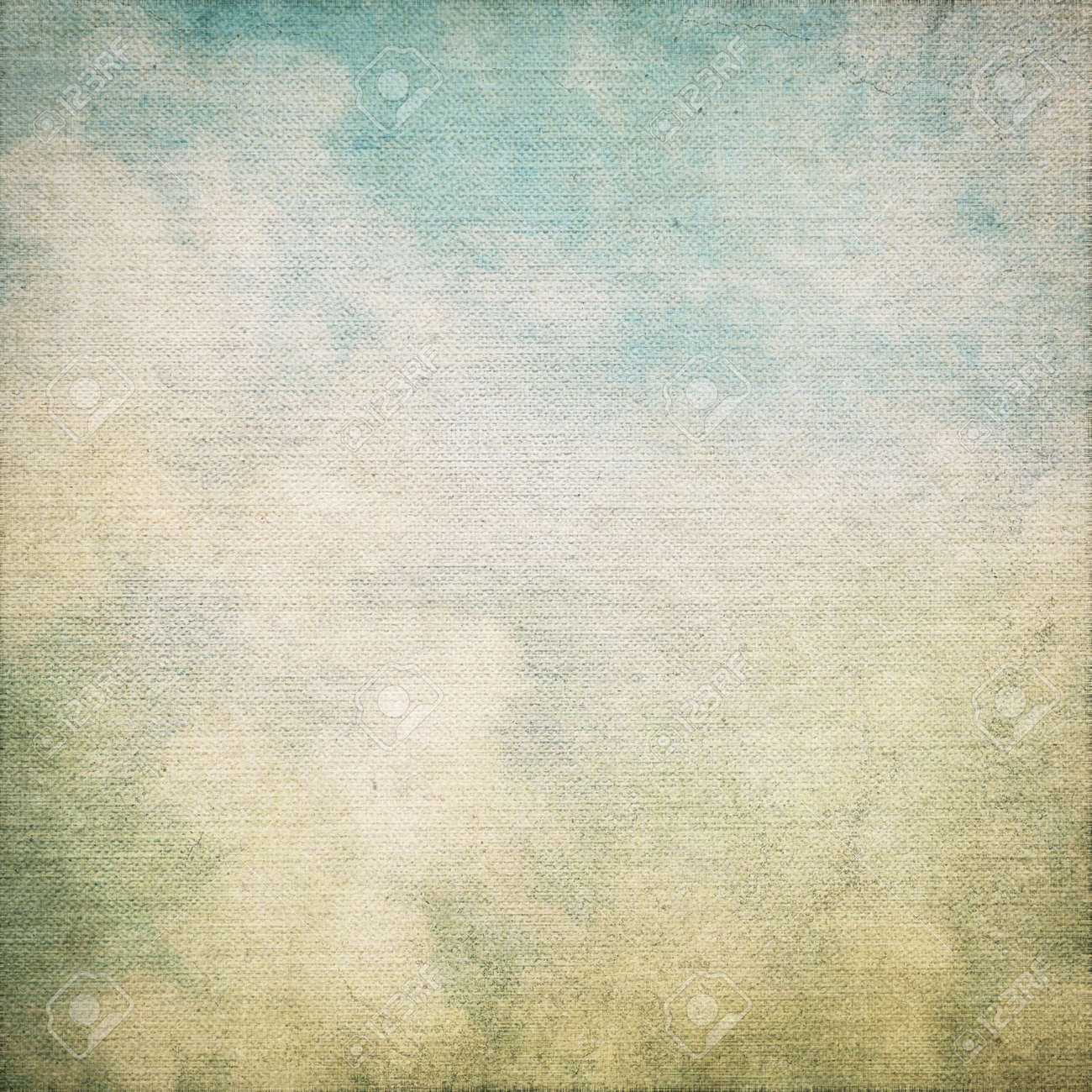 canvas texture grunge background with canvas texture and blue sky view abstract painting Stock Photo - 18685617