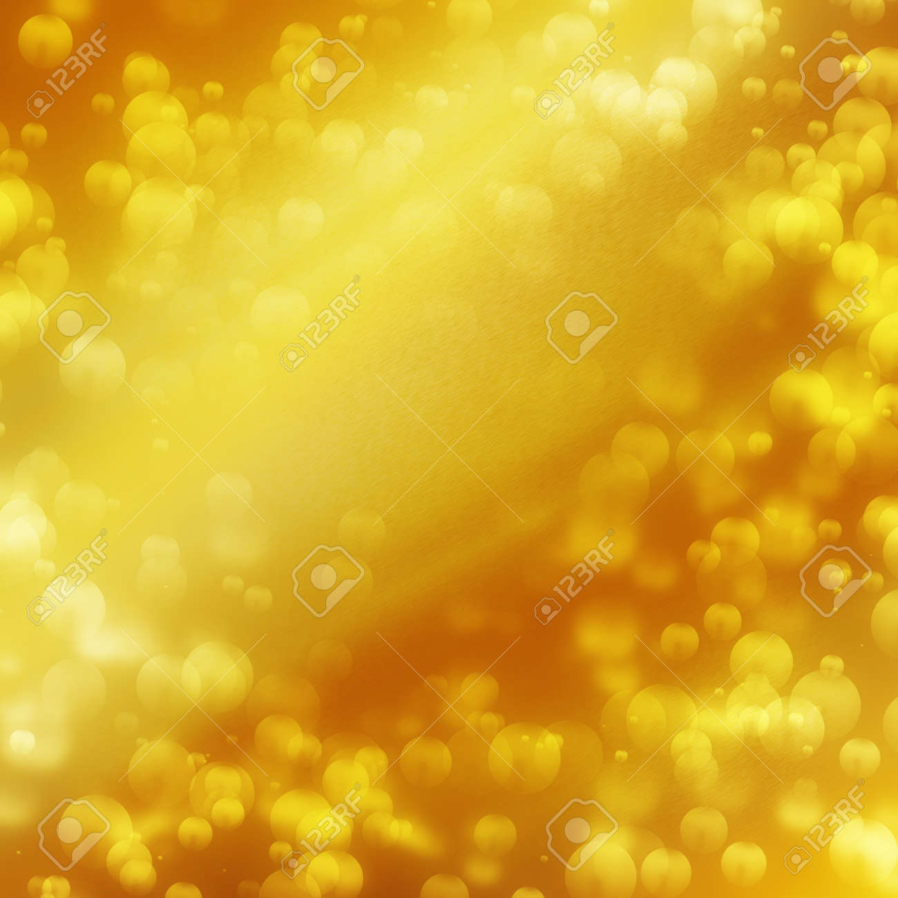 decorative background texture in gold color bokeh illustration may use to greeting card design Stock Photo - 21134543