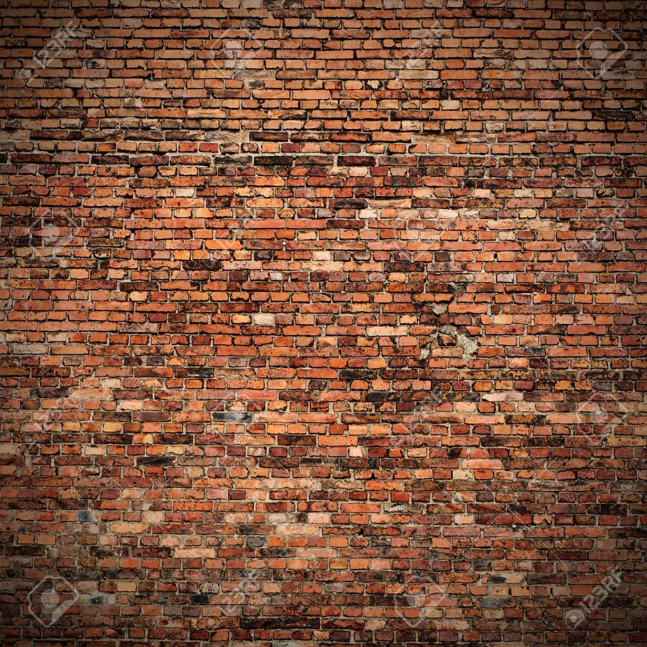 Mur En Brique Rouge mur de brique rouge de texture grunge avec des coins vignetted au design  d'intérieur