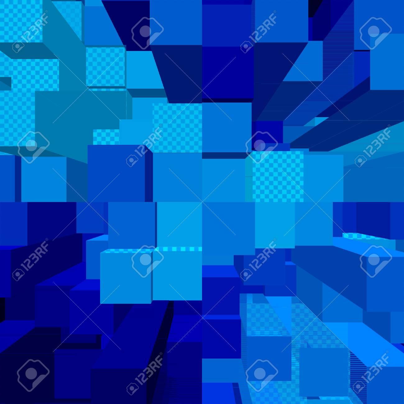 Blauer Hintergrund Abstrakte Blöcke Muster Lizenzfreie Fotos, Bilder ...