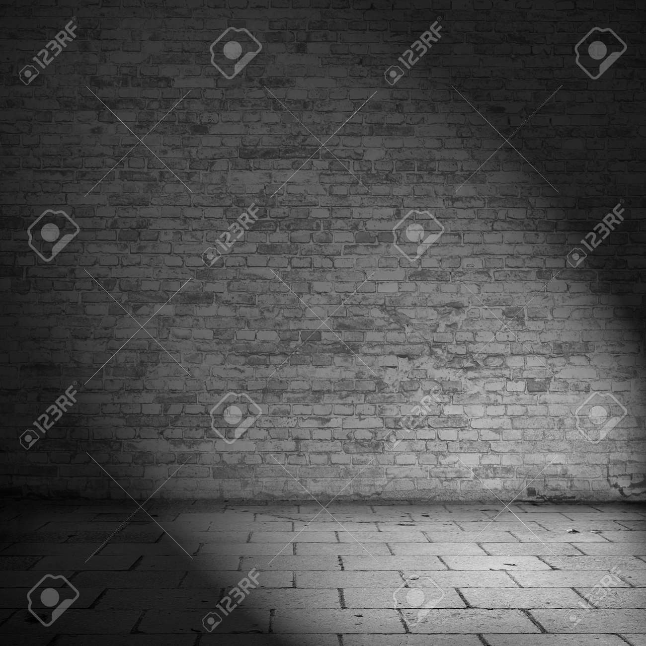 Black brick wall interior - Brick Wall Texture Background Abandoned House Interior Black And White Illustration Stock Illustration 37421580