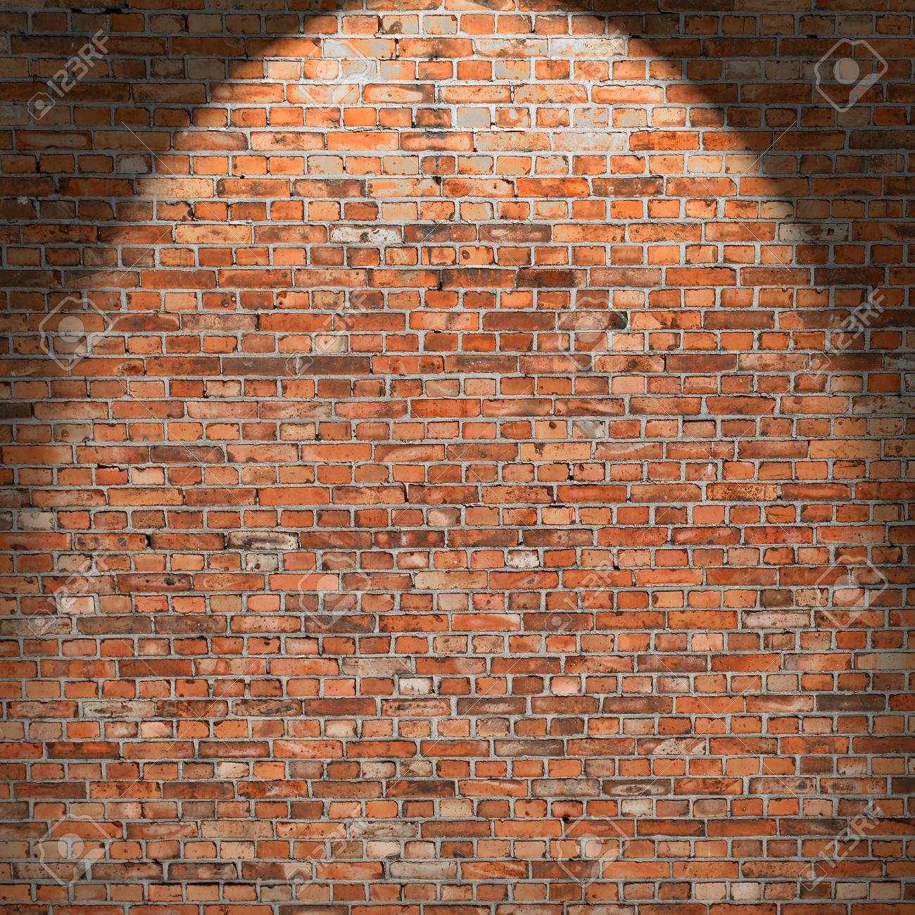 red brick wall texture interior grunge background with beam stock