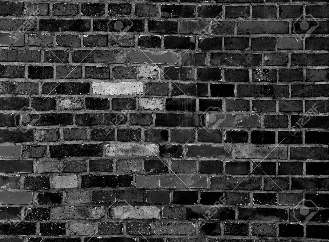 Black Brick Part - 32: Black Brick Wall Texture Grunge Background Stock Photo - 44092812