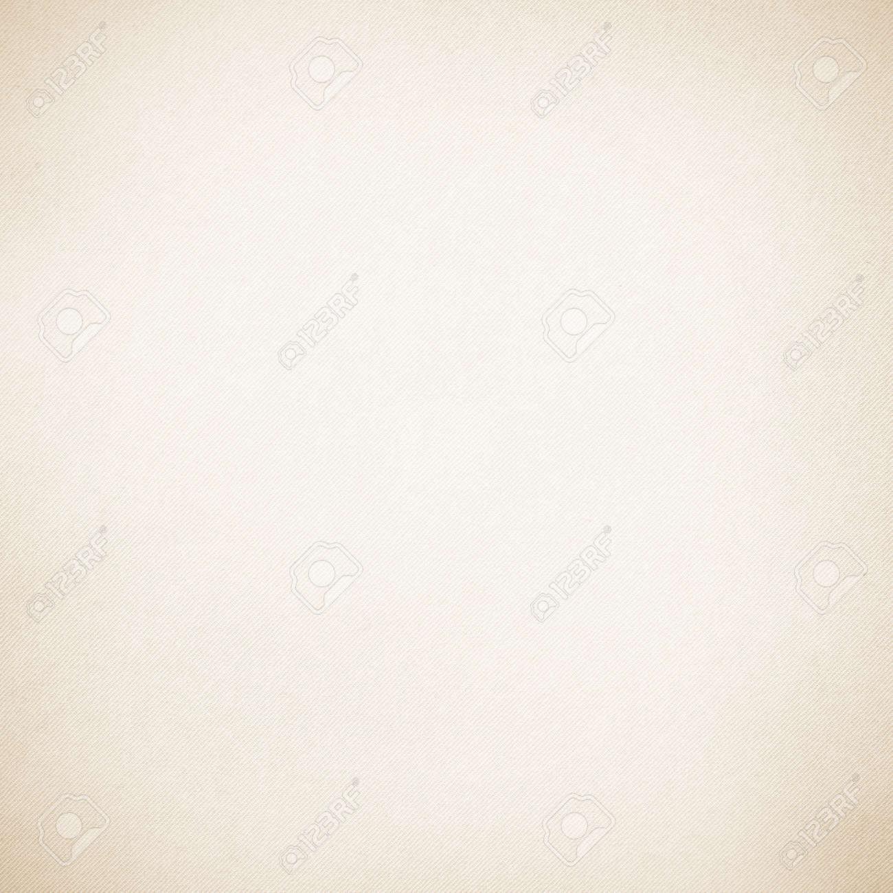 白い壁紙ベージュ キャンバスのテクスチャ背景の微妙なビネットおよび