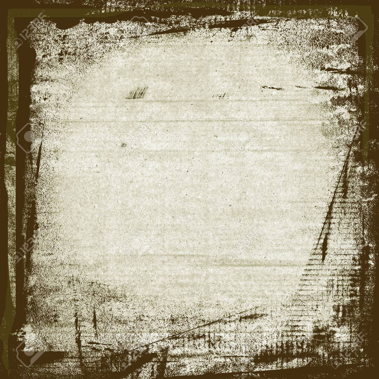 Watercolor Paint Brush Strokes Frame On White Wall Paper Background ...