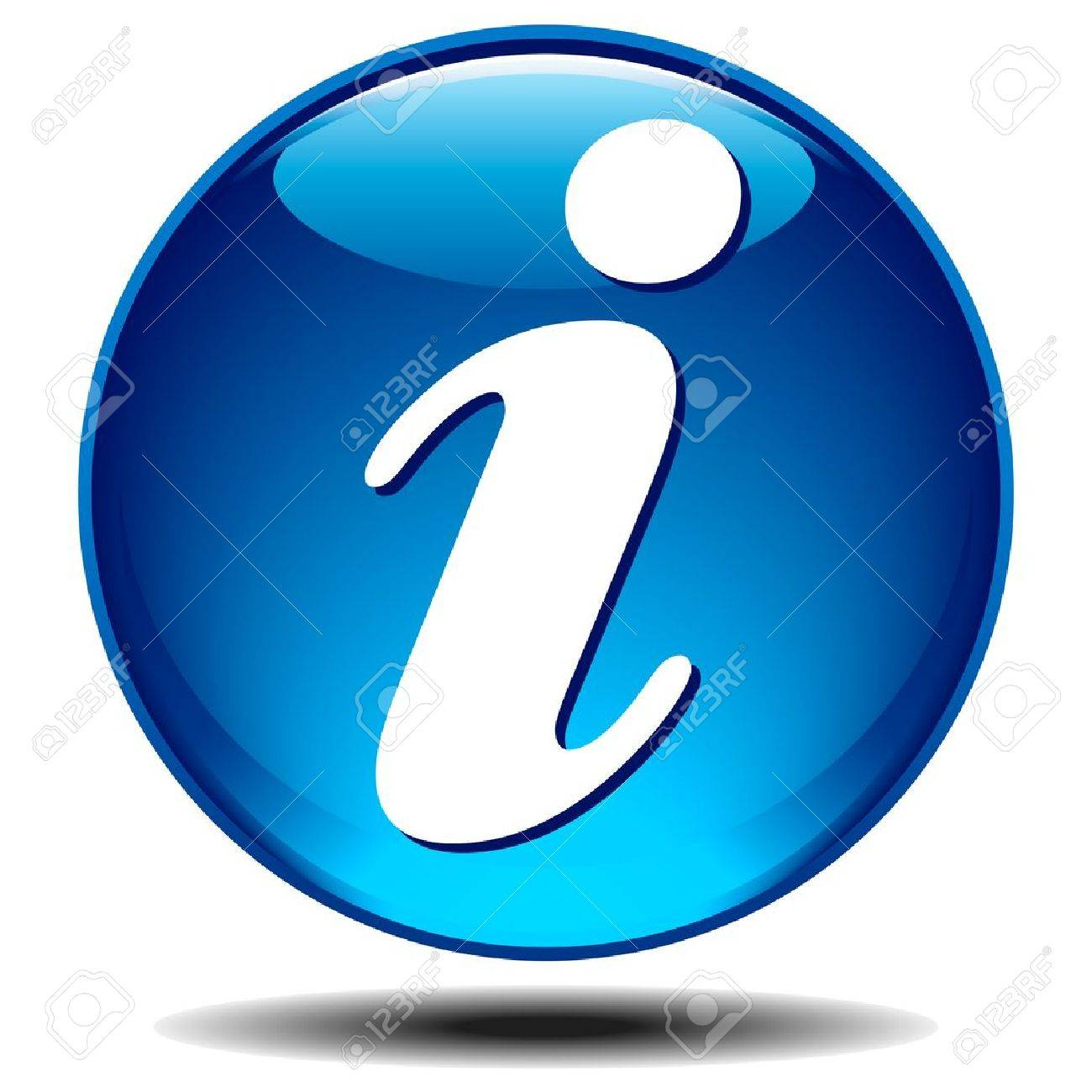 Blue generic glossy information icon Stock Vector - 9333114