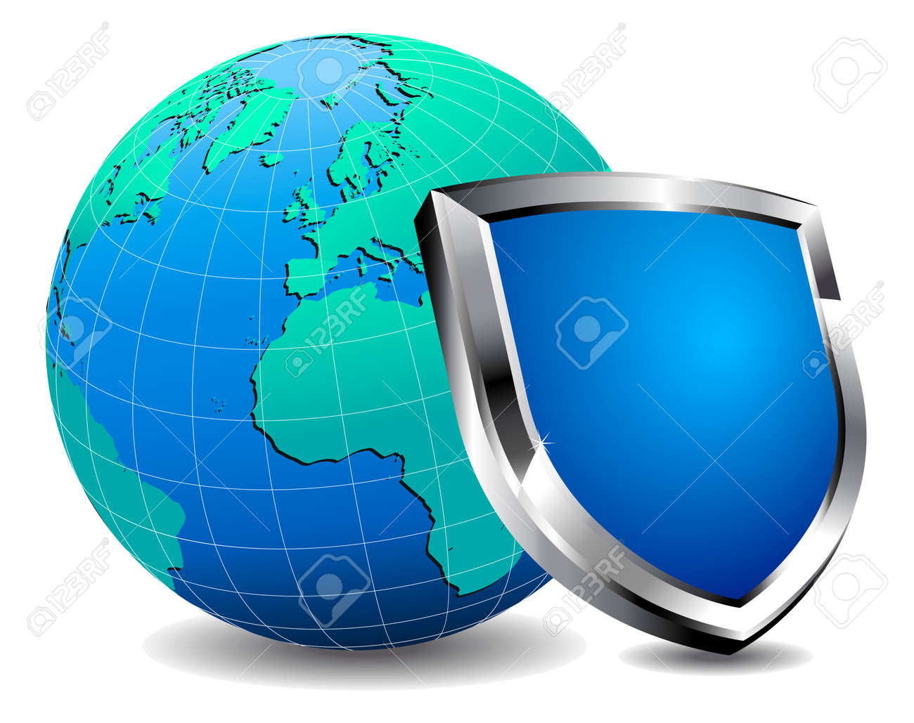 Protection Shield firewall Stock Vector - 9340490