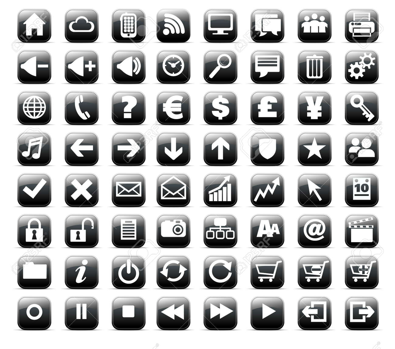 New Web And Media Internet Button Icon Royalty Free Cliparts ...