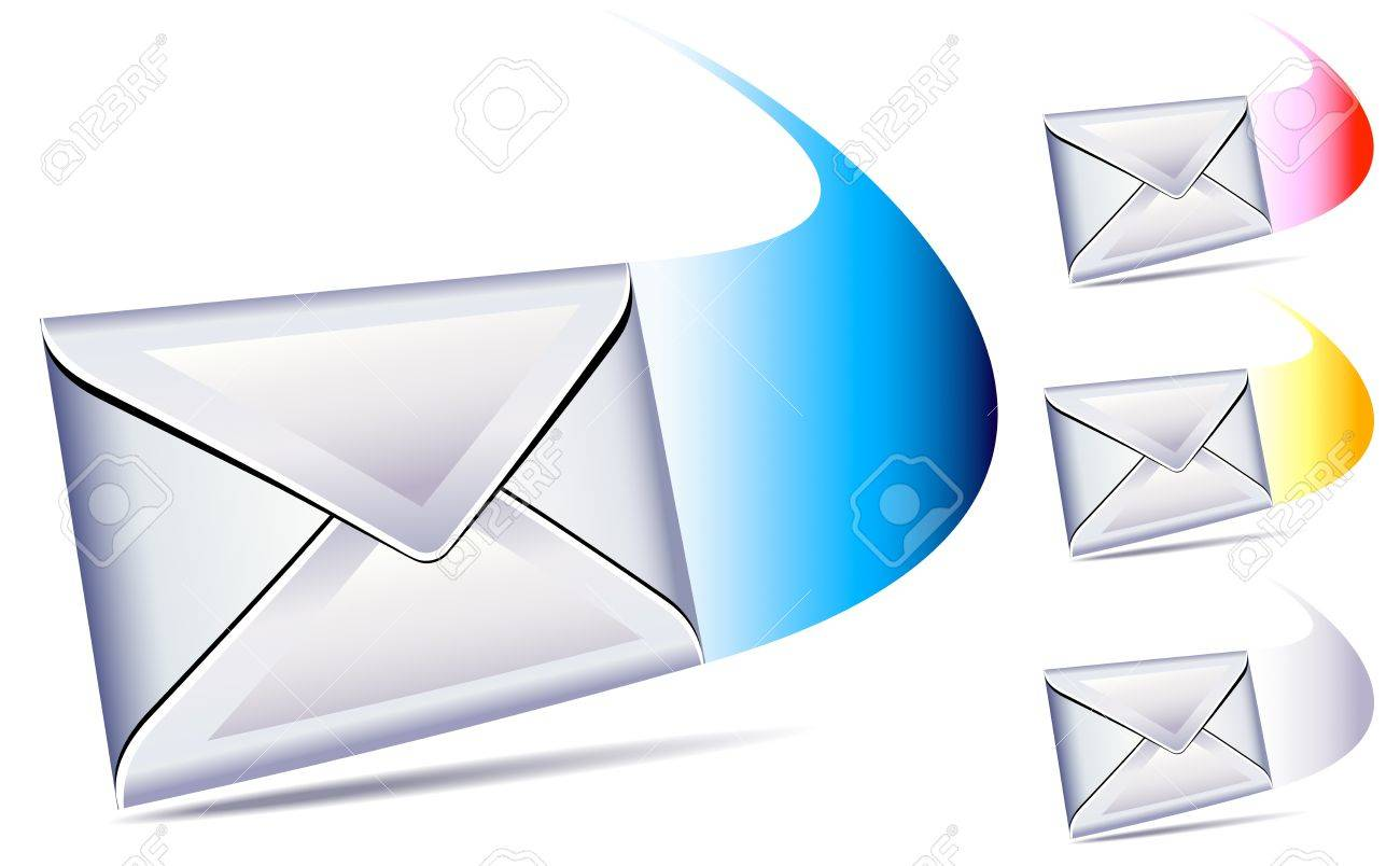 email sent and arriving with a whoosh Stock Vector - 10484914