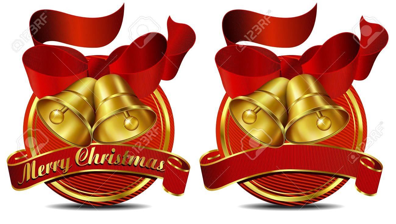Merry Christmas Bells website Red banner Stock Vector - 11169366