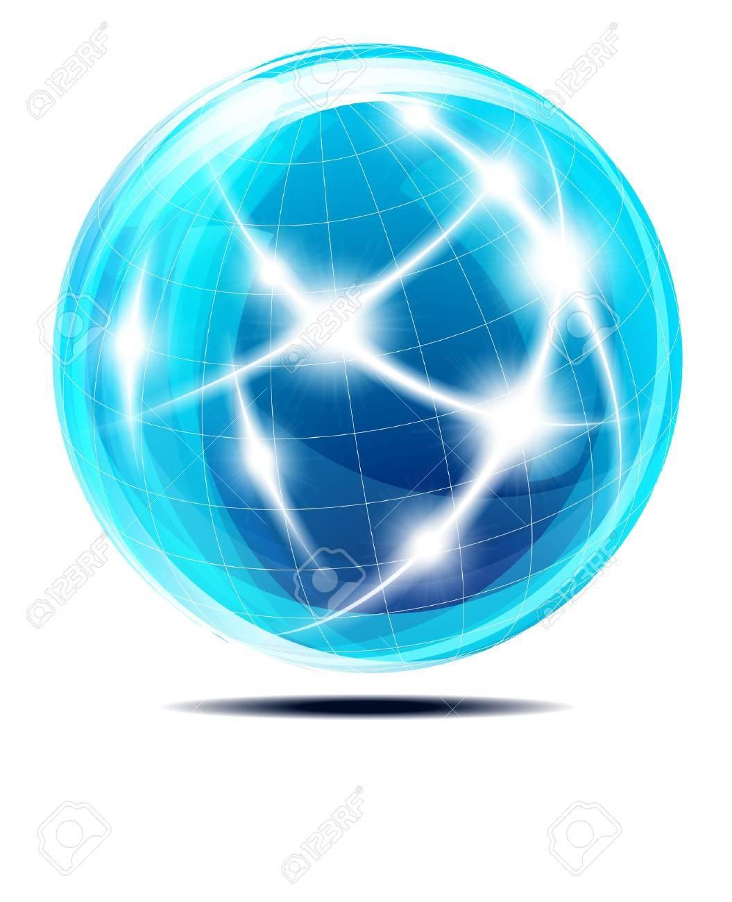 Abstract Communication Globe Stock Photo - 11243696