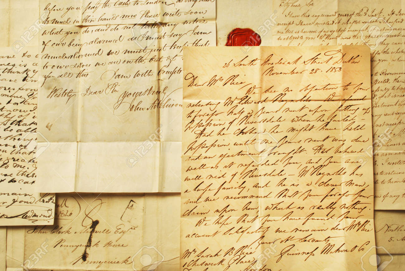 old letters elegant handwriting background stock photo picture and